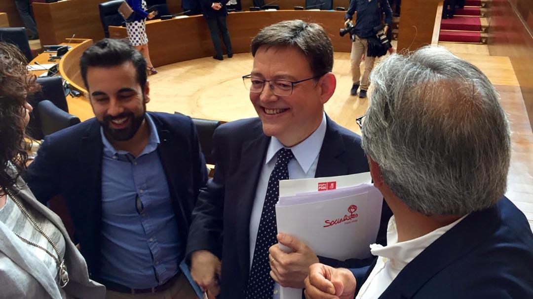 El debat d'investidura de Ximo Puig com a President de la Generalitat serà entre el 6 i el 12 de juny