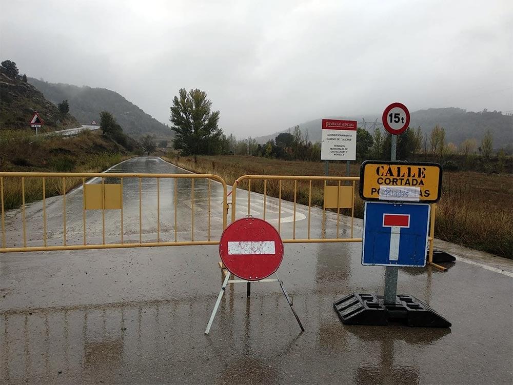 El camí de La Canà queda tallat per la previsió d'intenses pluges