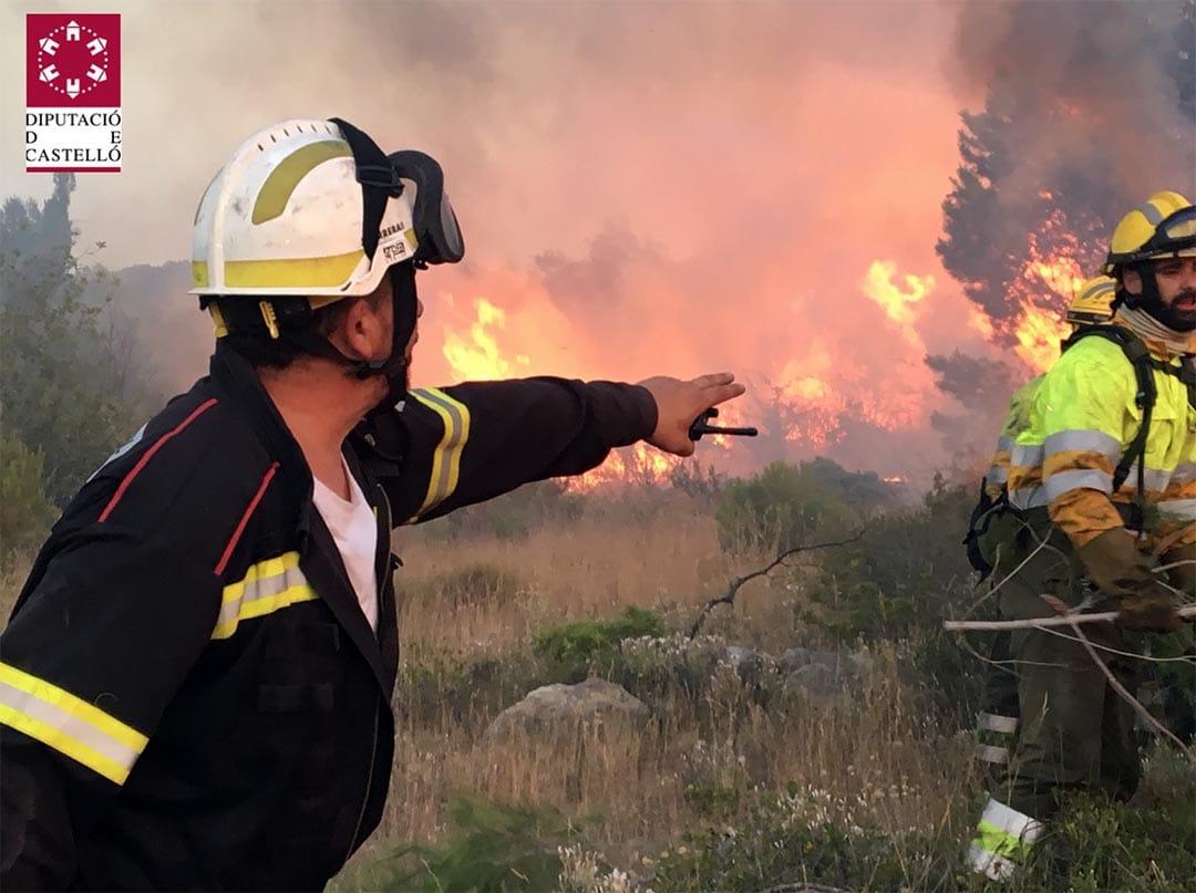 Estabilitzat l'incendi que ha cremat a Sant Mateu durant la vesprada