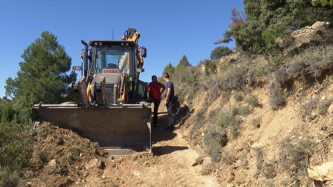 Es reparen pistes forestals amb un programa de la Diputació