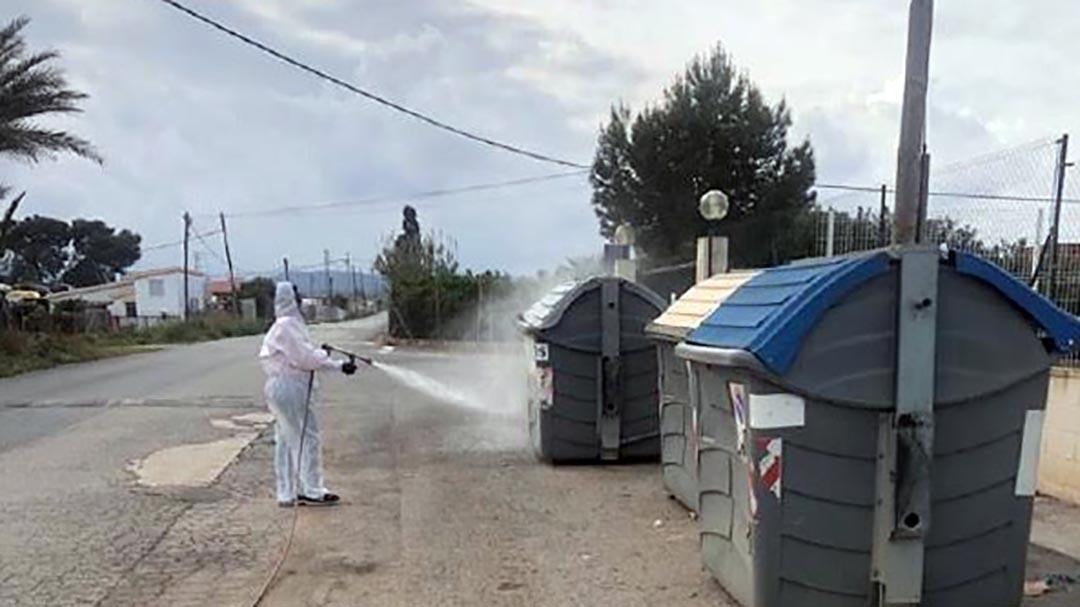 Benicarló fa un desplegament sense precedents de serveis de desinfecció