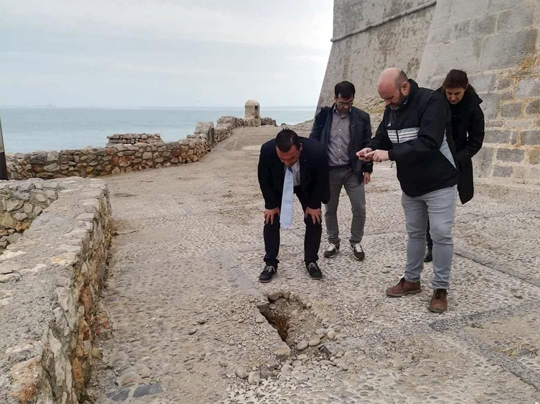 Peníscola demana amb urgència a la Generalitat la reparació de la zona de la Porteta