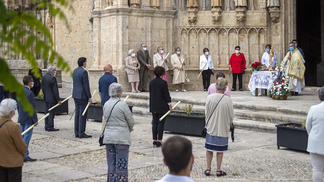 Morella celebra el Corpus a més de dos metres de distància