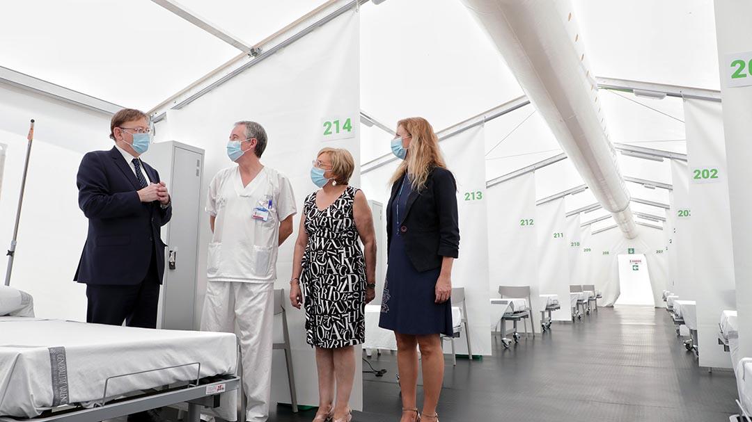 Ximo Puig visita l'Hospital General de Castelló