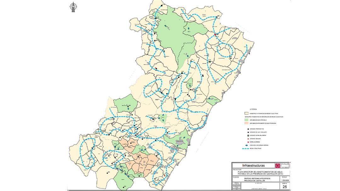El Pla Director de l'Aigua de la Diputació de Castelló marca el full de ruta per a proveir eficientment a tota la província