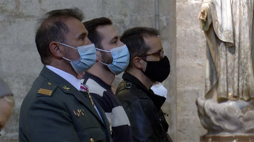 Morella fa missa pel Pilar amb representació de la Guàrdia Civil