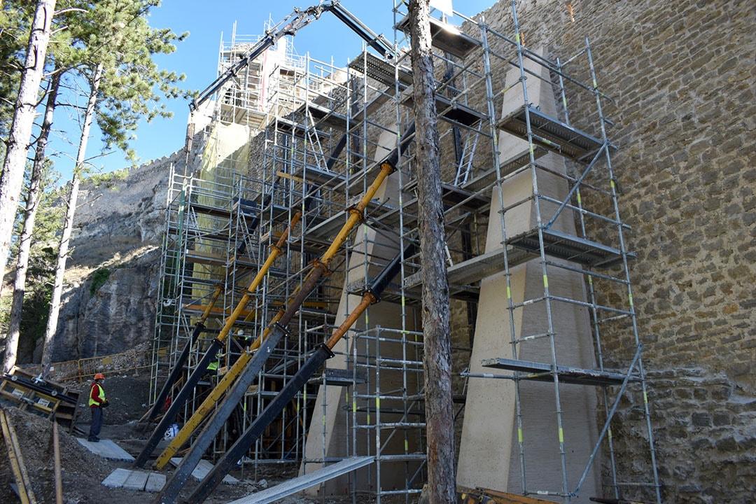 Avancen les obres de rehabilitació de les torres de Sant Francesc i La Pardala