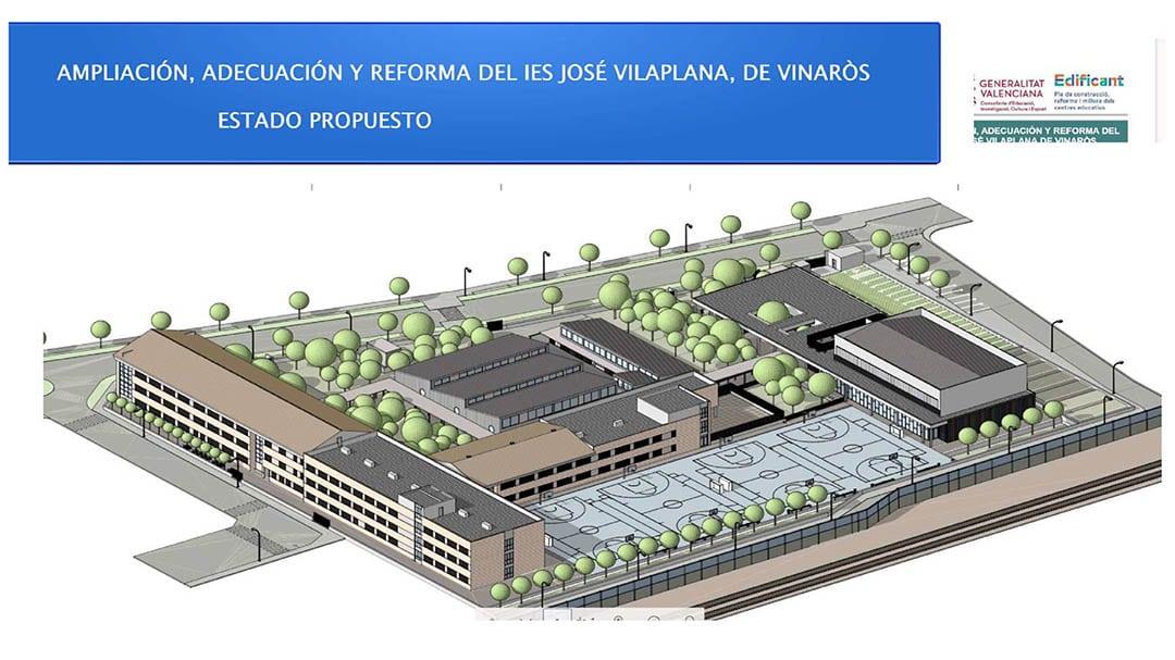 Es presenta el projecte de millora i ampliació de l'institut José Vilaplana