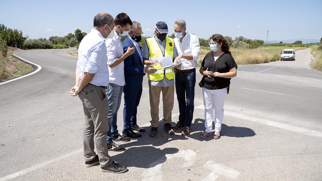La Diputació inverteix 220.000 euros en reasfaltar la CV-101 entre Vinaròs i Alcanar