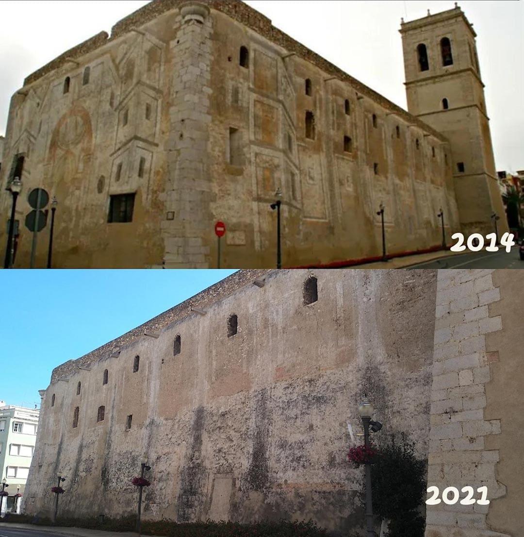 El PP exigeix una actuació immediata per salvar les pintures de l'església