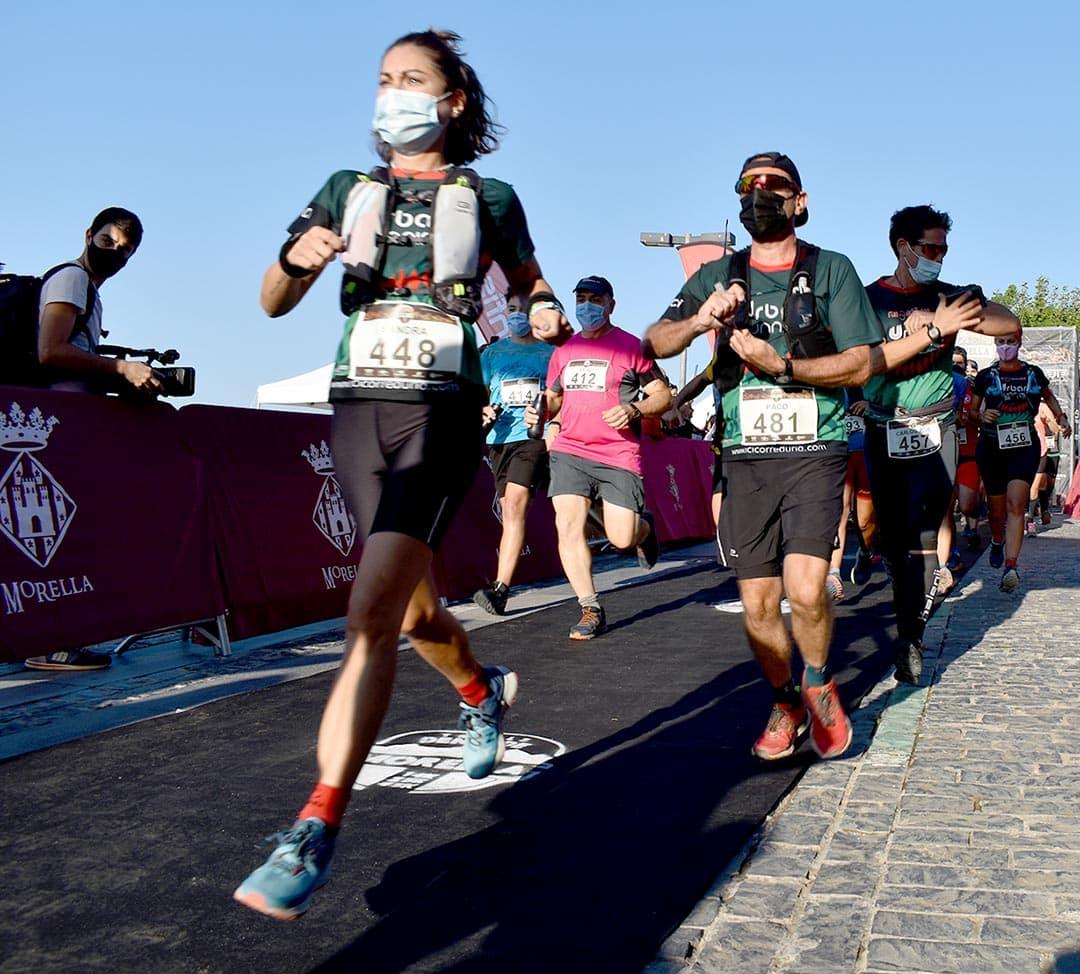 Molta participació en la Trails Denes de Morella