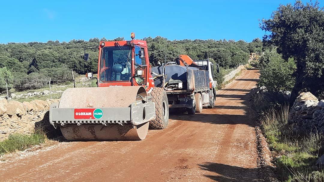 S'arreglen els camins rurals de Morella afectats pel temporal Filomena