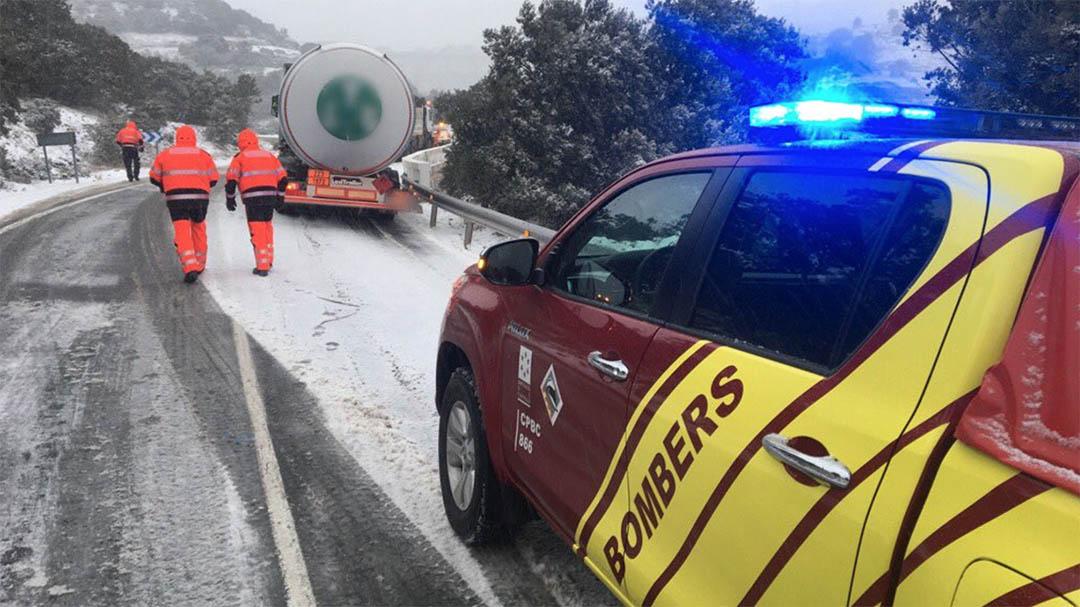 Ares sofreix els principals problemes del primer dia de la gran nevada
