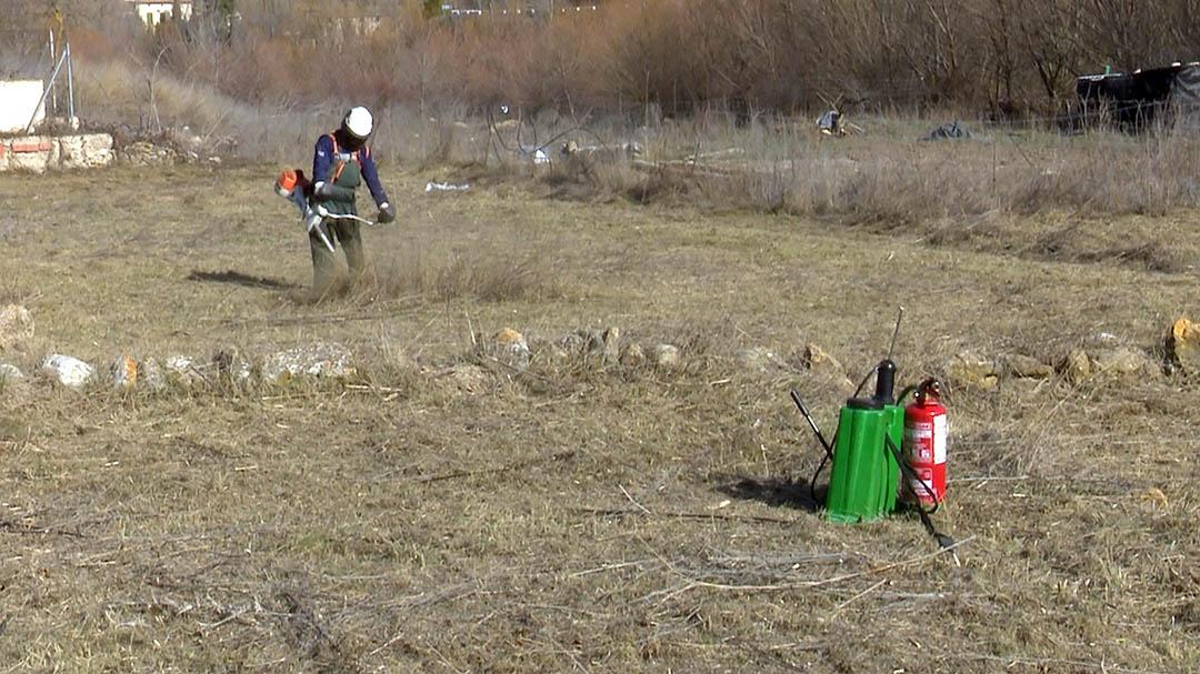 Les brigades netegen els voltants de Forcall per a previndre incendis