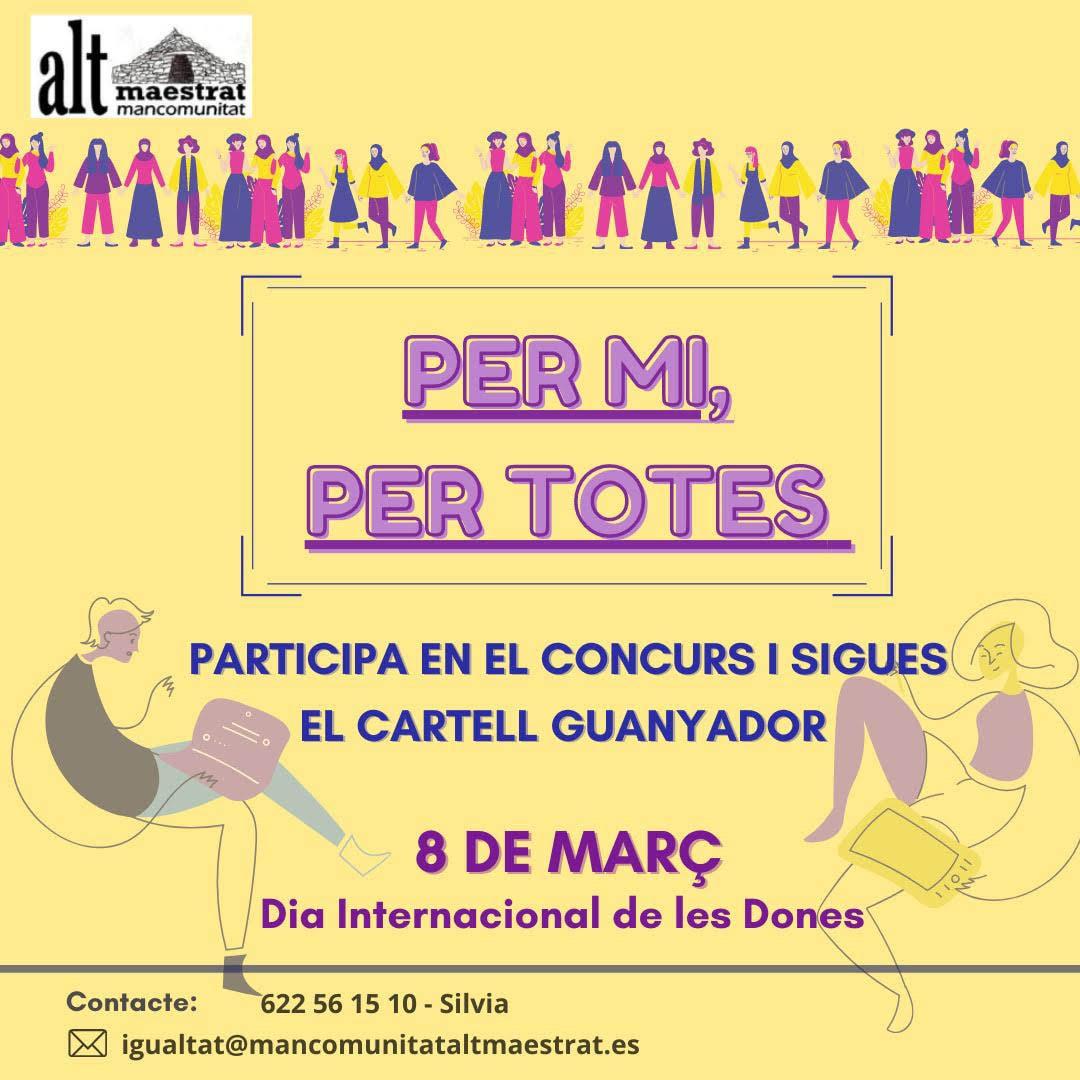 La Mancomunitat Alt Maestrat obri un concurs de cartells pel 8-M