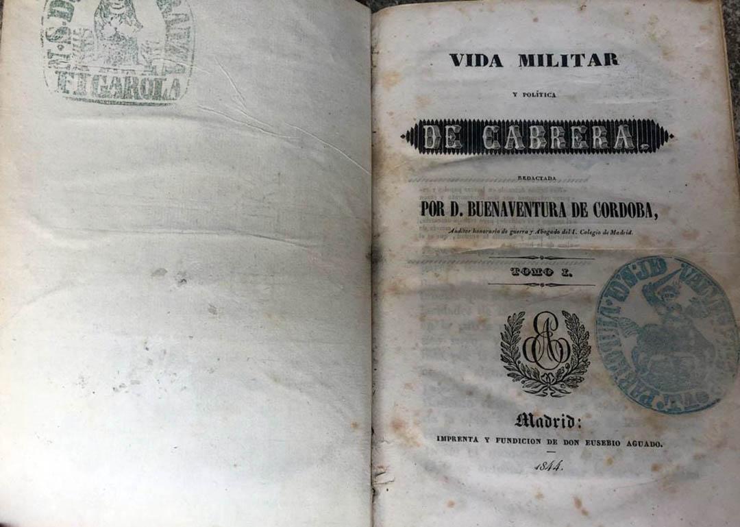 """Cantavieja adquireix el llibre """"Vida militar i política de Cabrera"""""""
