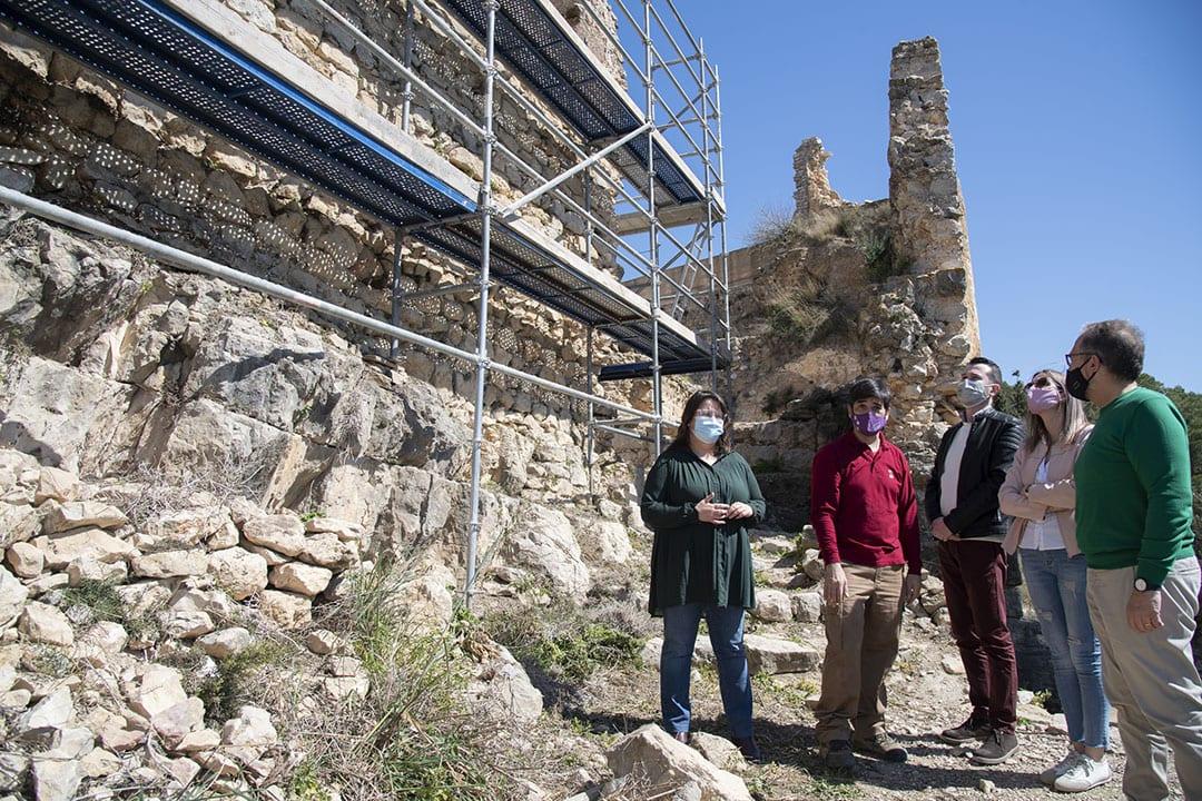 Diputació inverteix 40.000 euros en la muralla de l'Albacar del castell de Xivert