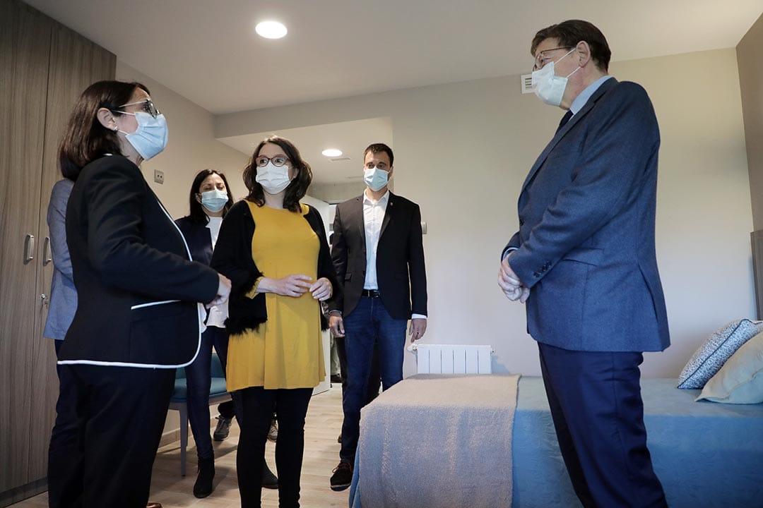 El president Puig i la vicepresidenta Oltra visiten la Residència de Vinaròs